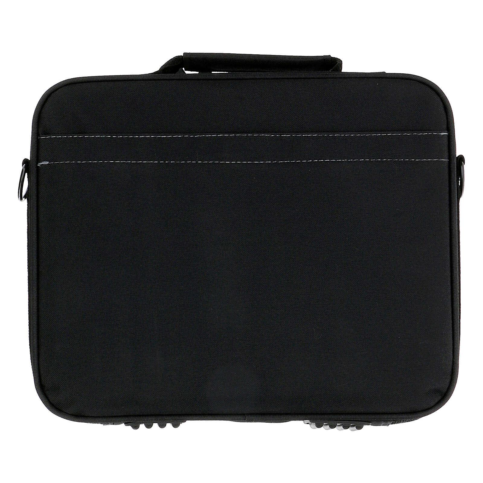 Mini borsa porta computer per celebrazione con jacquard blu 3