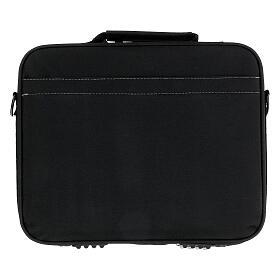 Mini borsa porta computer per celebrazione con jacquard blu s12