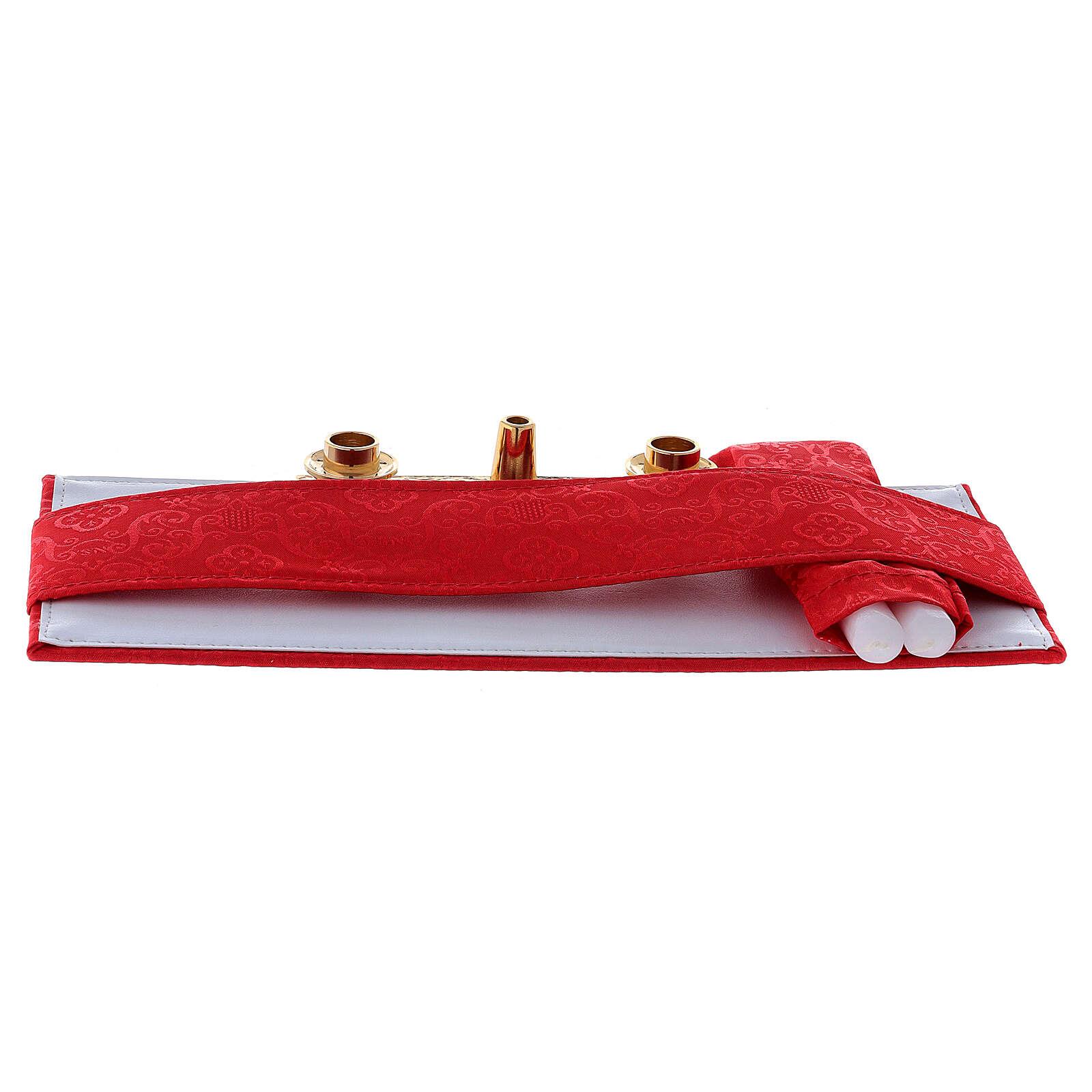 Maleta modelo 24 horas para celebración jacquard rojo 3