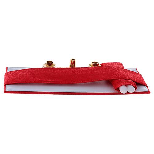 Maleta modelo 24 horas para celebración jacquard rojo 7