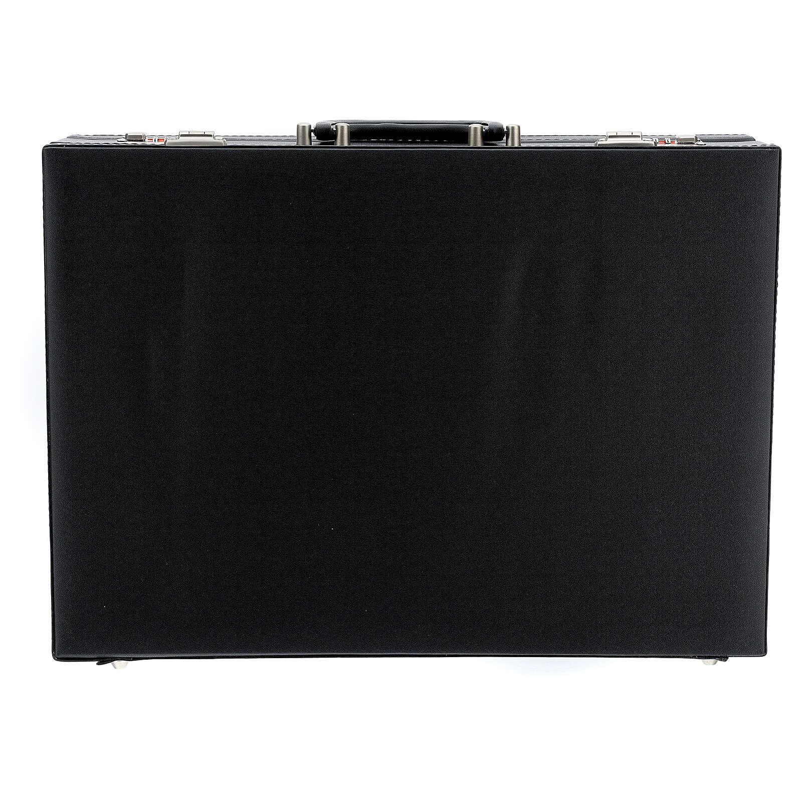 Valise modèle attaché-case pour célébration jacquard rouge 3