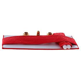 Valise modèle attaché-case pour célébration jacquard rouge s7
