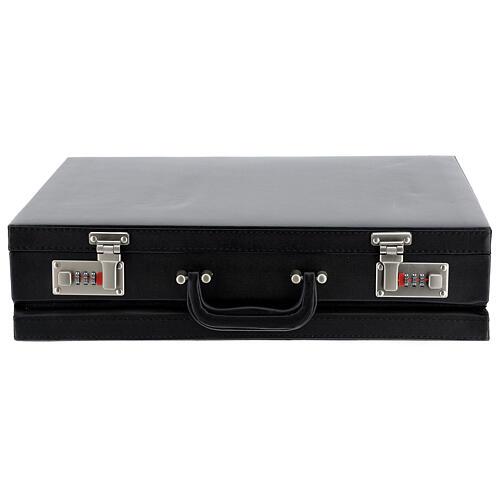 Valise modèle attaché-case pour célébration jacquard rouge 8