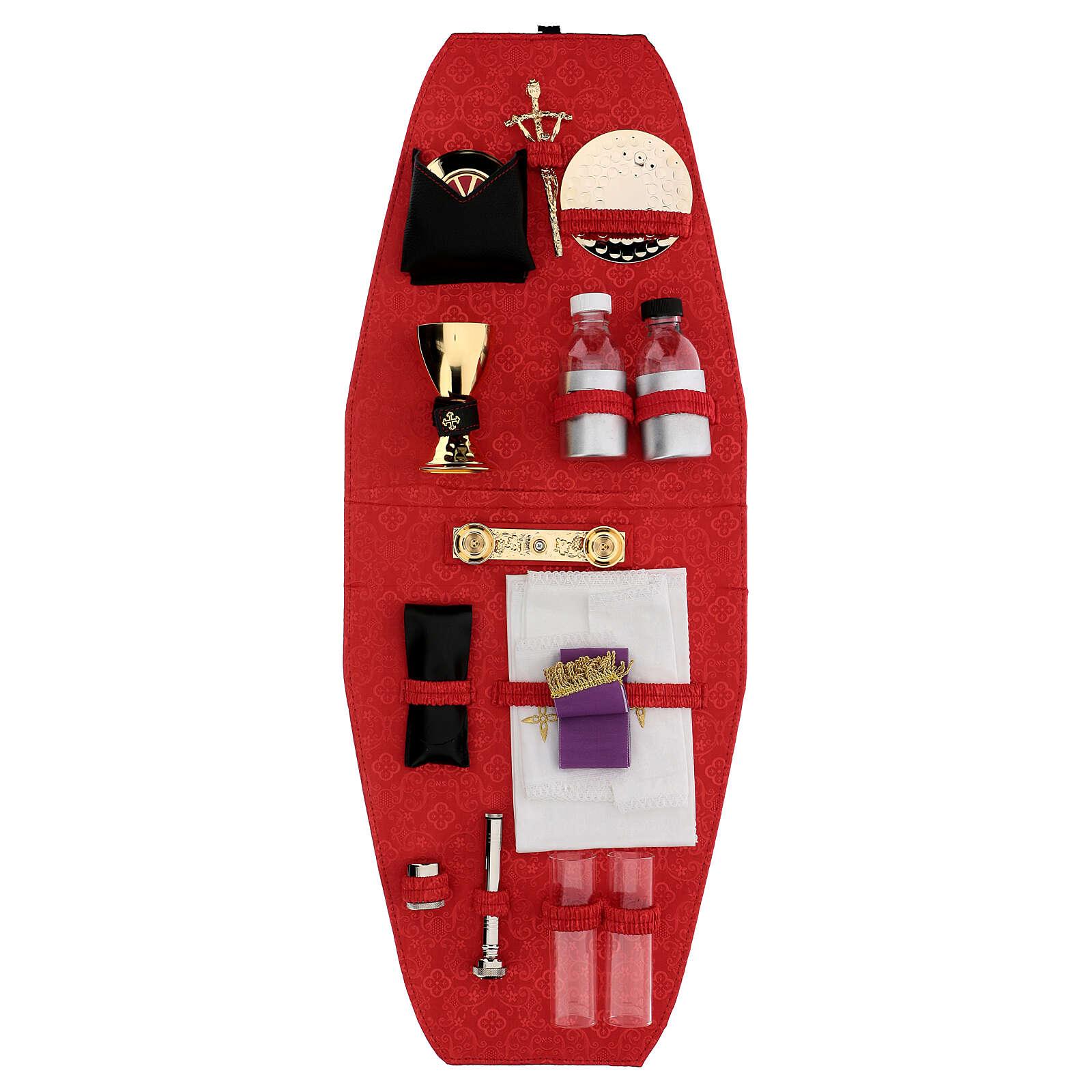 Sac-à-dos pour célébration avec intérieur en jacquard rouge 3