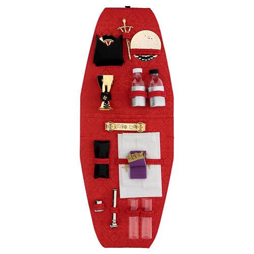 Sac-à-dos pour célébration avec intérieur en jacquard rouge 9