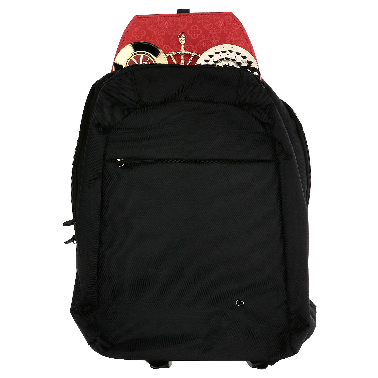 Travel mass kit backpack with red Jacquard lining 3