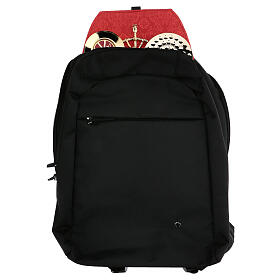 Travel mass kit backpack with red Jacquard lining s1