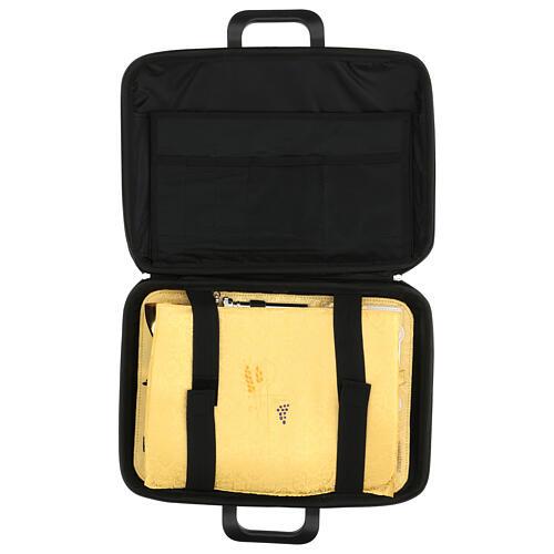 Bolso cartera para celebraciones con jacquard amarillo 9