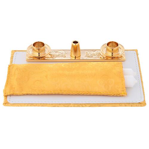 Borsa mini per celebrazione con jacquard giallo 8