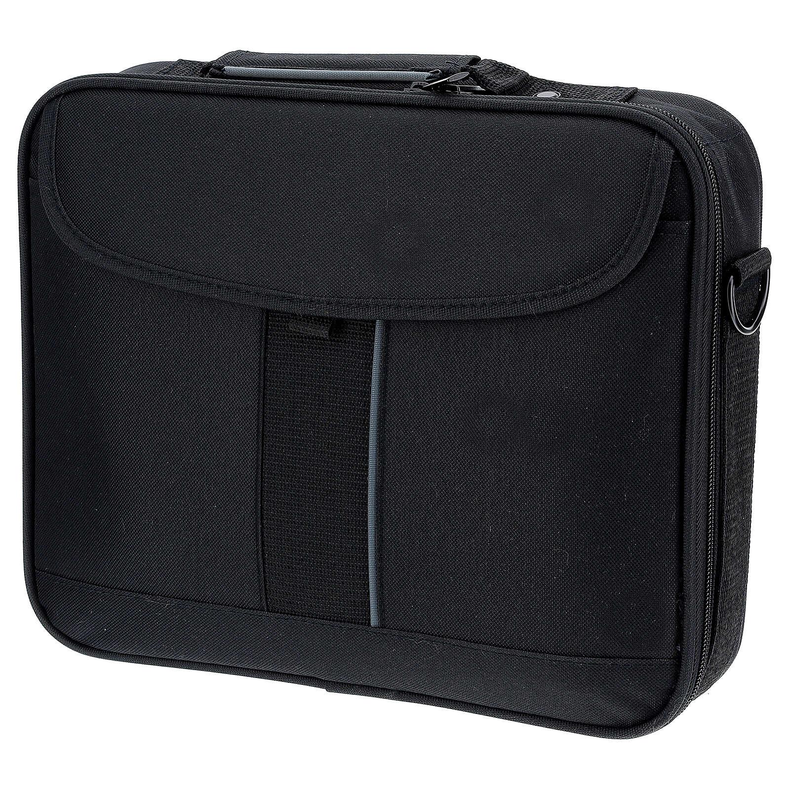 Mini bolso para ordenador para celebración con tejido gris 3
