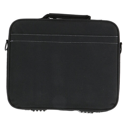 Mini bolso para ordenador para celebración con tejido gris 12