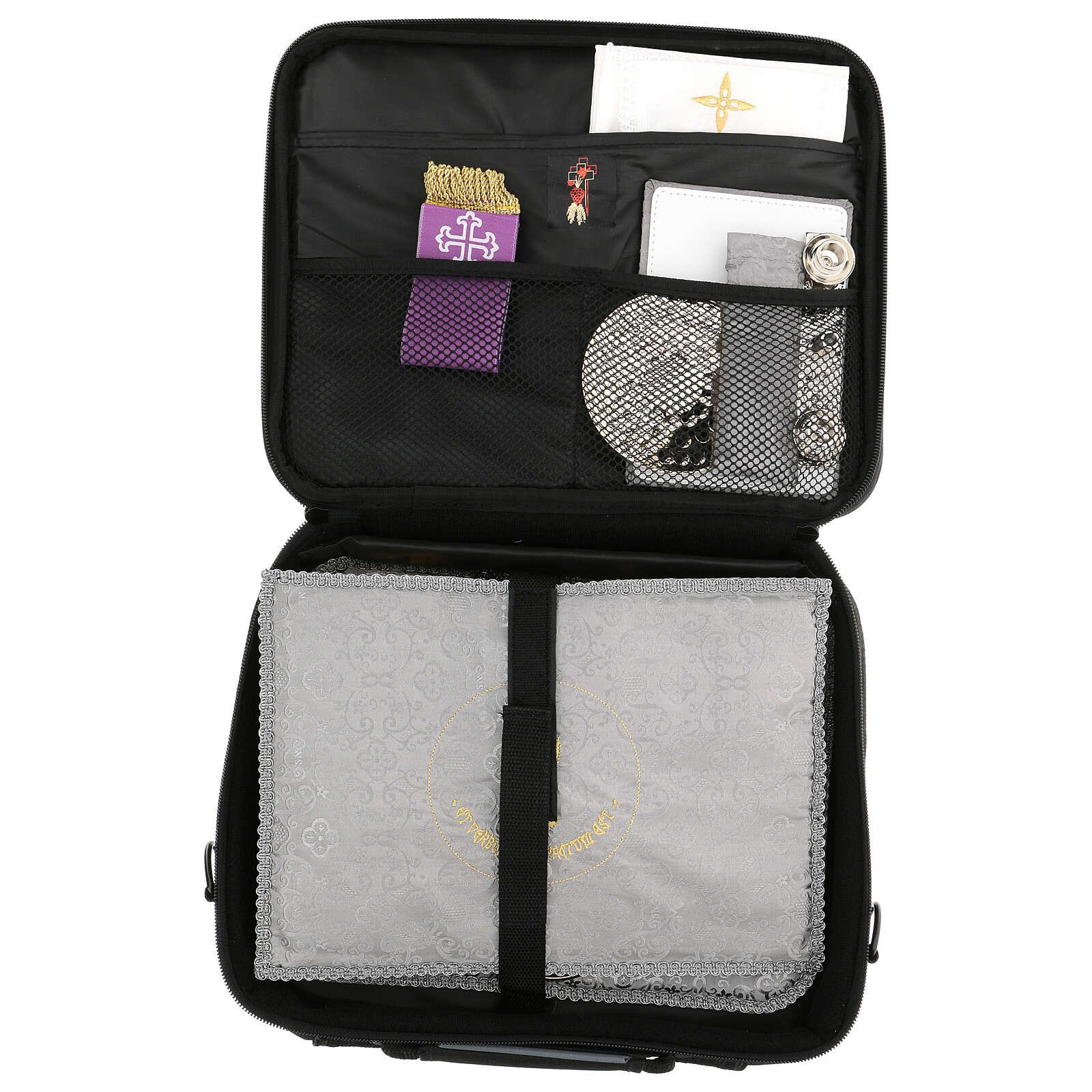 Mini borsa porta computer per celebrazione con tessuto grigio 3