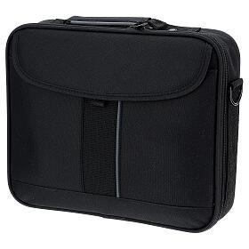 Mini borsa porta computer per celebrazione con tessuto grigio s11