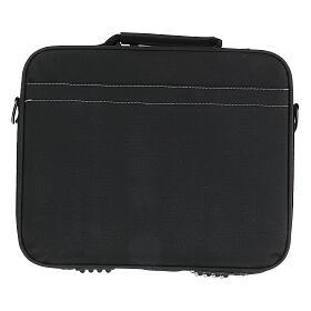 Mini borsa porta computer per celebrazione con tessuto grigio s12