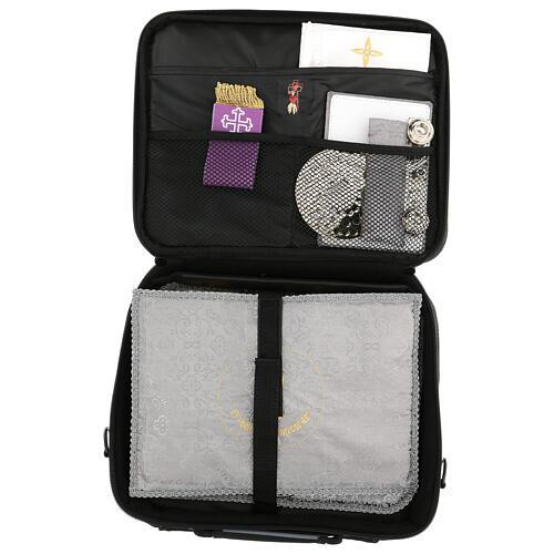 Mini borsa porta computer per celebrazione con tessuto grigio 10