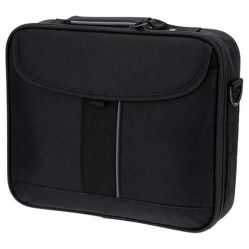 Mini borsa porta computer per celebrazione con tessuto grigio 11