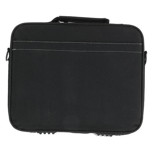Mini borsa porta computer per celebrazione con tessuto grigio 12