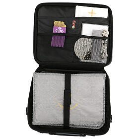 Mini computer bag for mass celebration with grey fabric s10