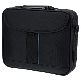 Mini computer bag for mass celebration with grey fabric s11