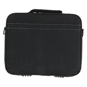 Mini computer bag for mass celebration with grey fabric s12