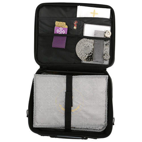 Mini computer bag for mass celebration with grey fabric 10