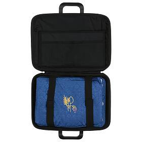 Bolso cartera para celebraciones con moiré azul s9
