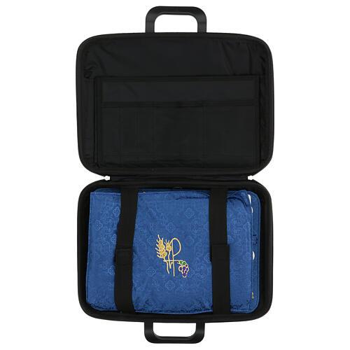 Bolso cartera para celebraciones con moiré azul 9