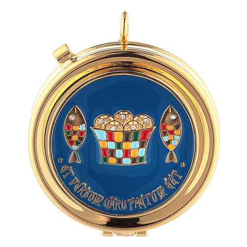 Bolsa tiracolo para celebração litúrgica interior tecido jacquard vermelho 4