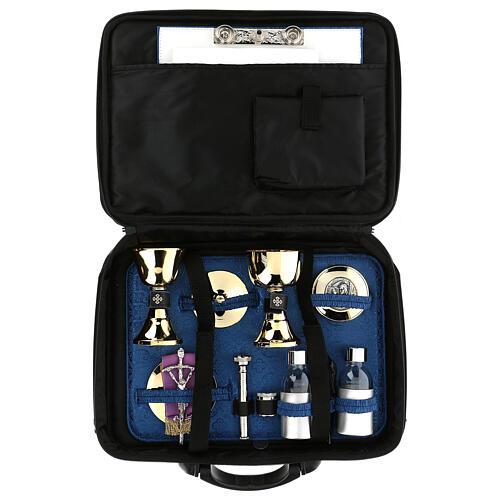 Mass kit bag with blue Jacquard lining 1