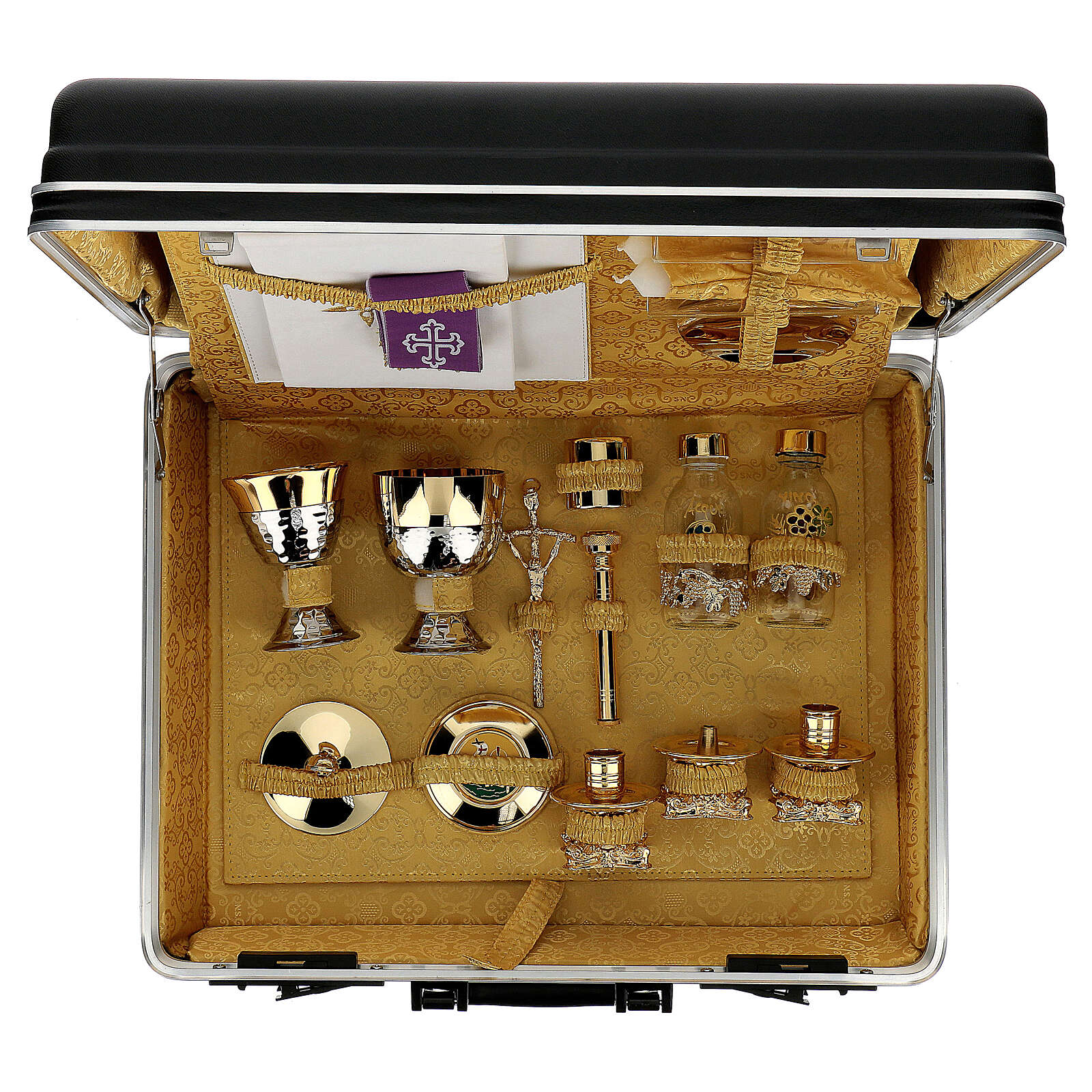 ABS mass kit briefcase with golden silk lining 3