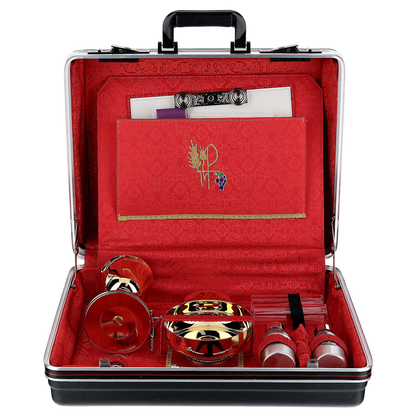 ABS briefcase with silk and embroidery 3