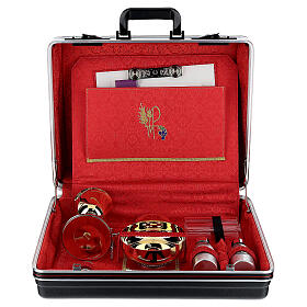 ABS briefcase with silk and embroidery s1