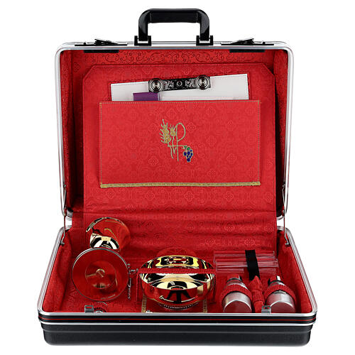 ABS briefcase with silk and embroidery 1