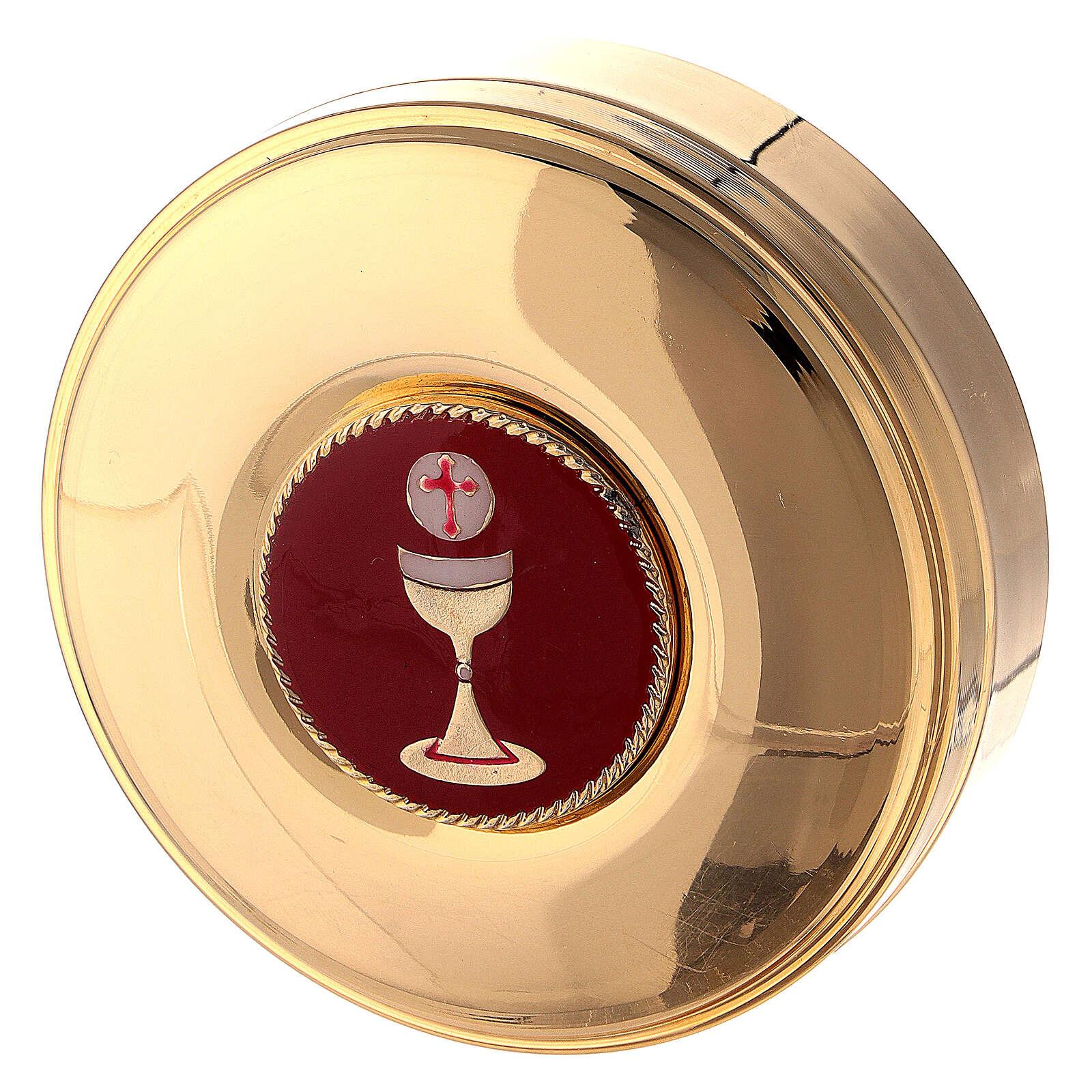 Maleta con combinación de cuero sintético para celebración y raso rojo 3