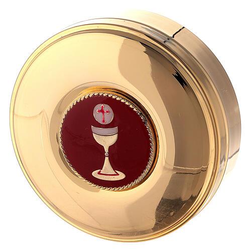 Valigia con combinazione in ecopelle per celebrazione e raso rosso 7