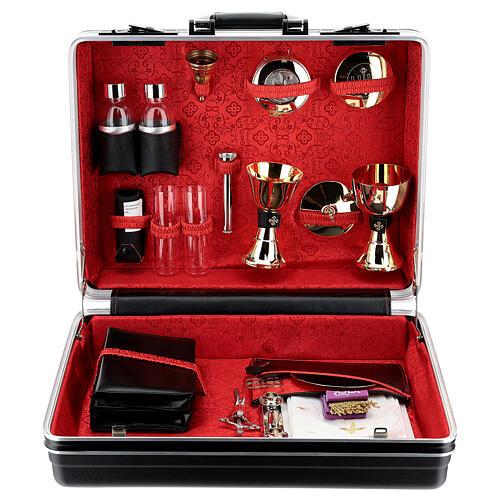 Valigia per celebrazione in Abs foderata Jacquard rosso 1