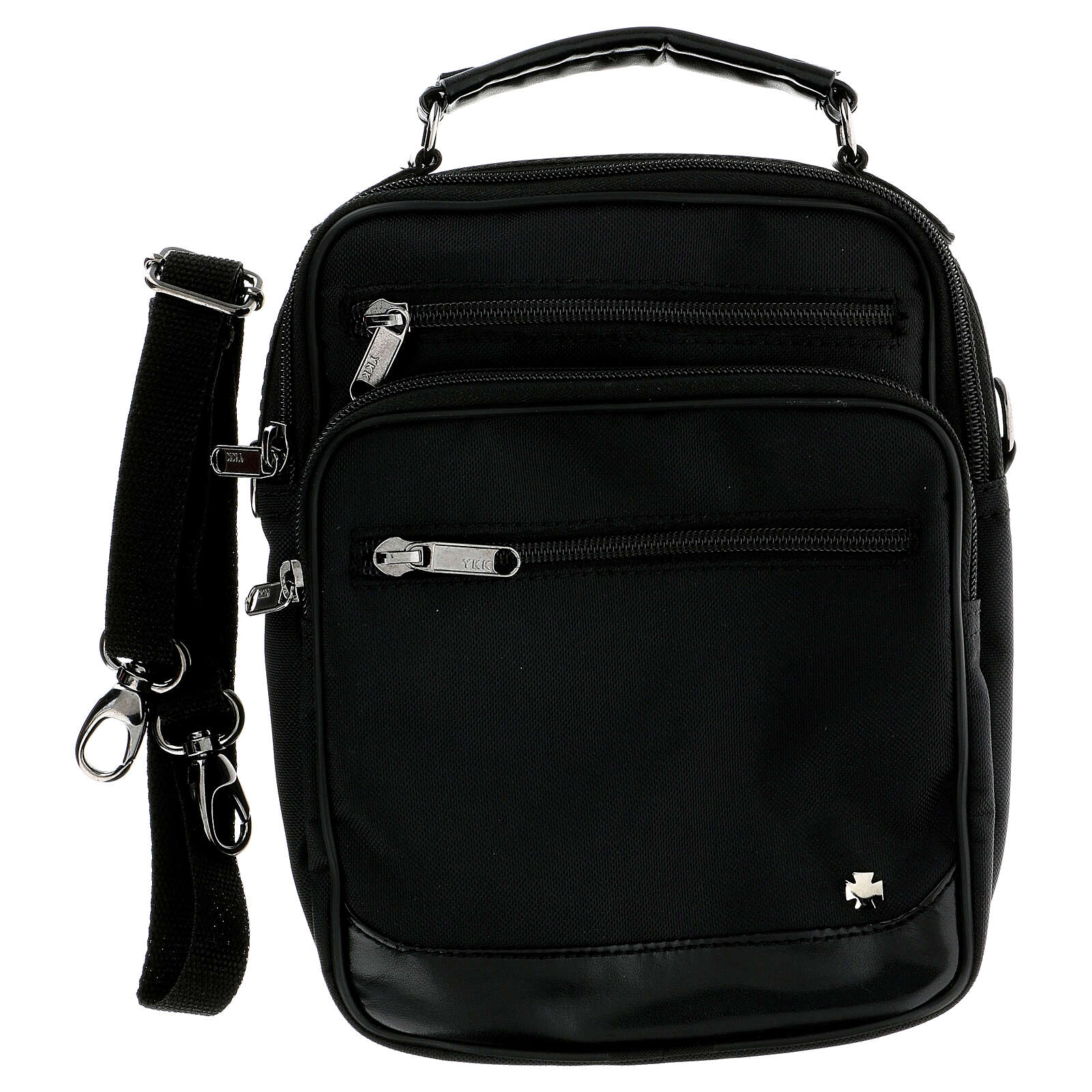 Shoulder bag for mass kit in technical fabric and silk 3