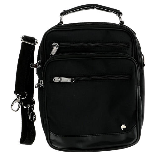 Shoulder bag for mass kit in technical fabric and silk 2