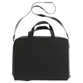 Bag for travel mass kit in leather and silk s14