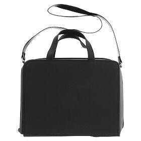 Bag for travel mass kit in leather and silk s15