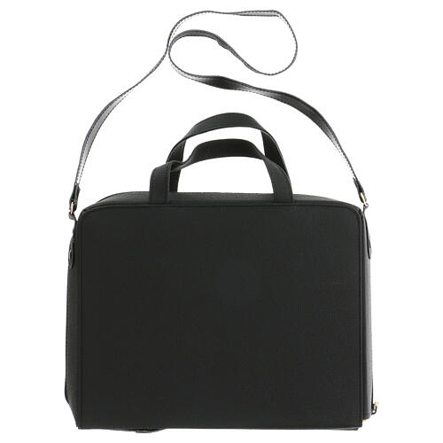 Bag for travel mass kit in leather and silk 14