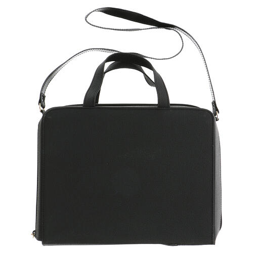 Bag for travel mass kit in leather and silk 15