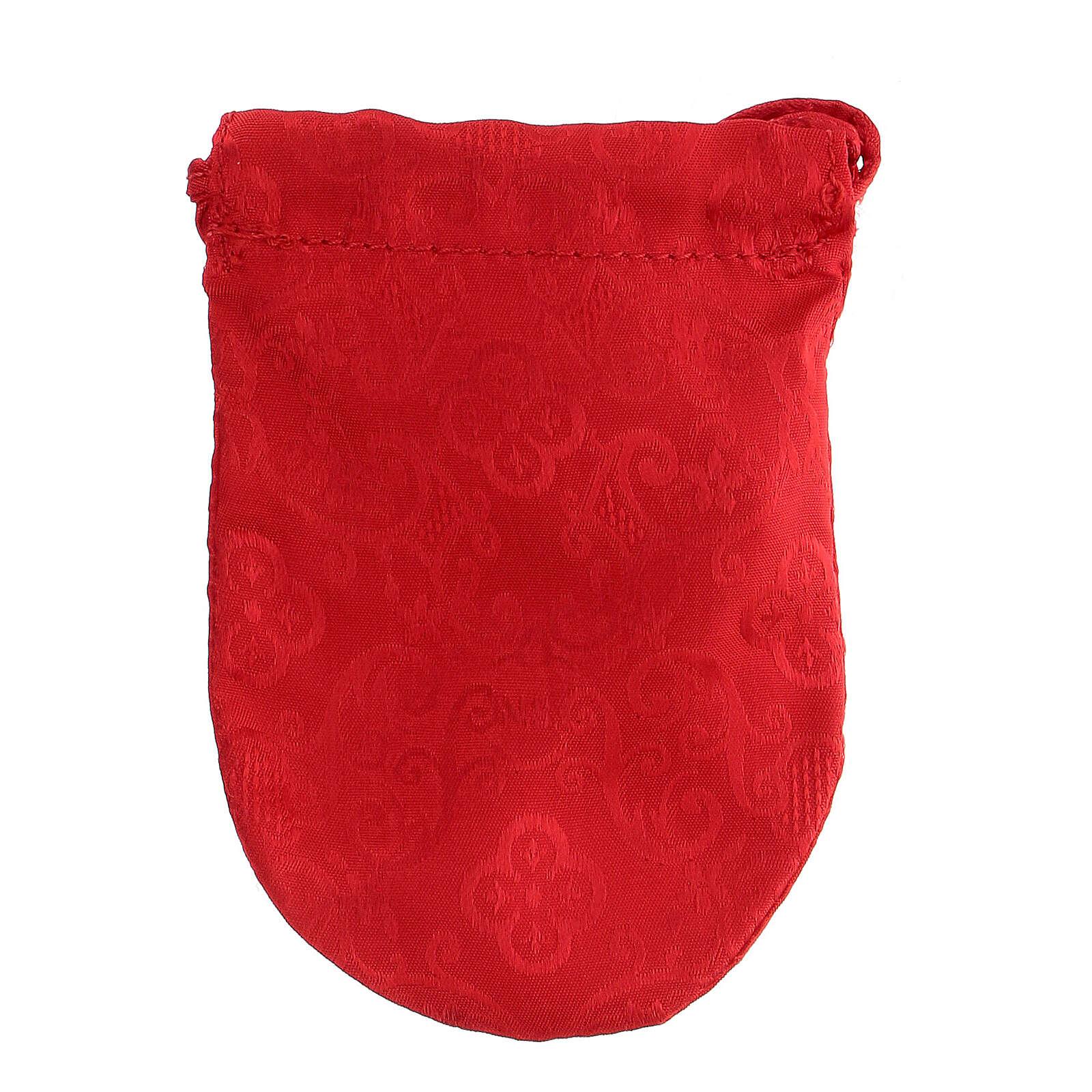 Bolsa para viático de Jacquard rojo relicario 8 cm 3
