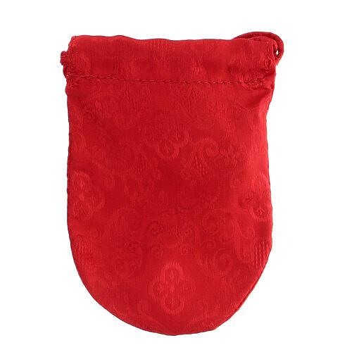 Sachet pour viatique en Jacquard rouge custode 8 cm 6