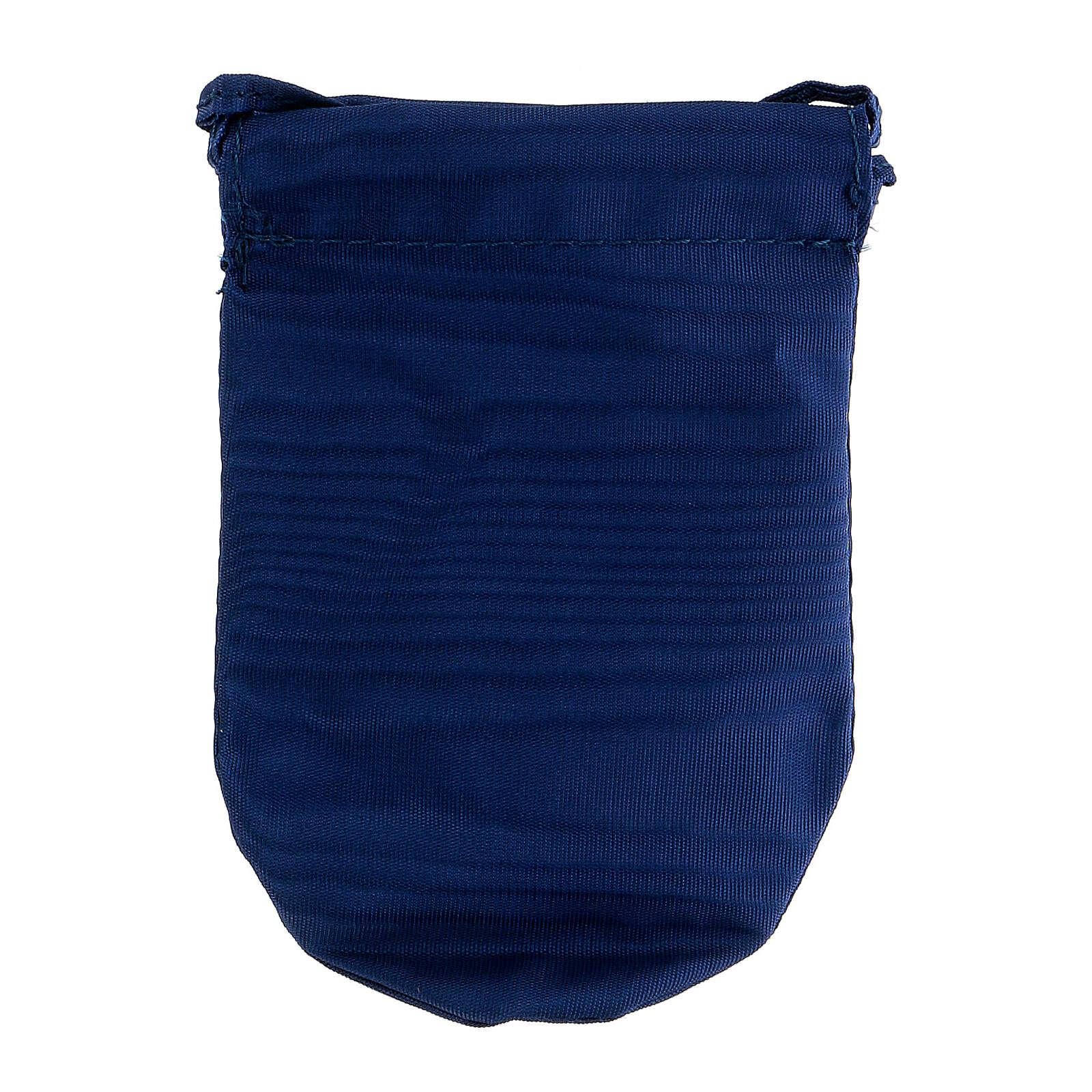 Sacchetto portaviatico blu in Jacquard teca 8 cm 3