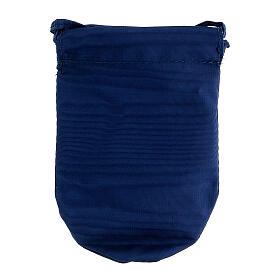 Sacchetto portaviatico blu in Jacquard teca 8 cm s6