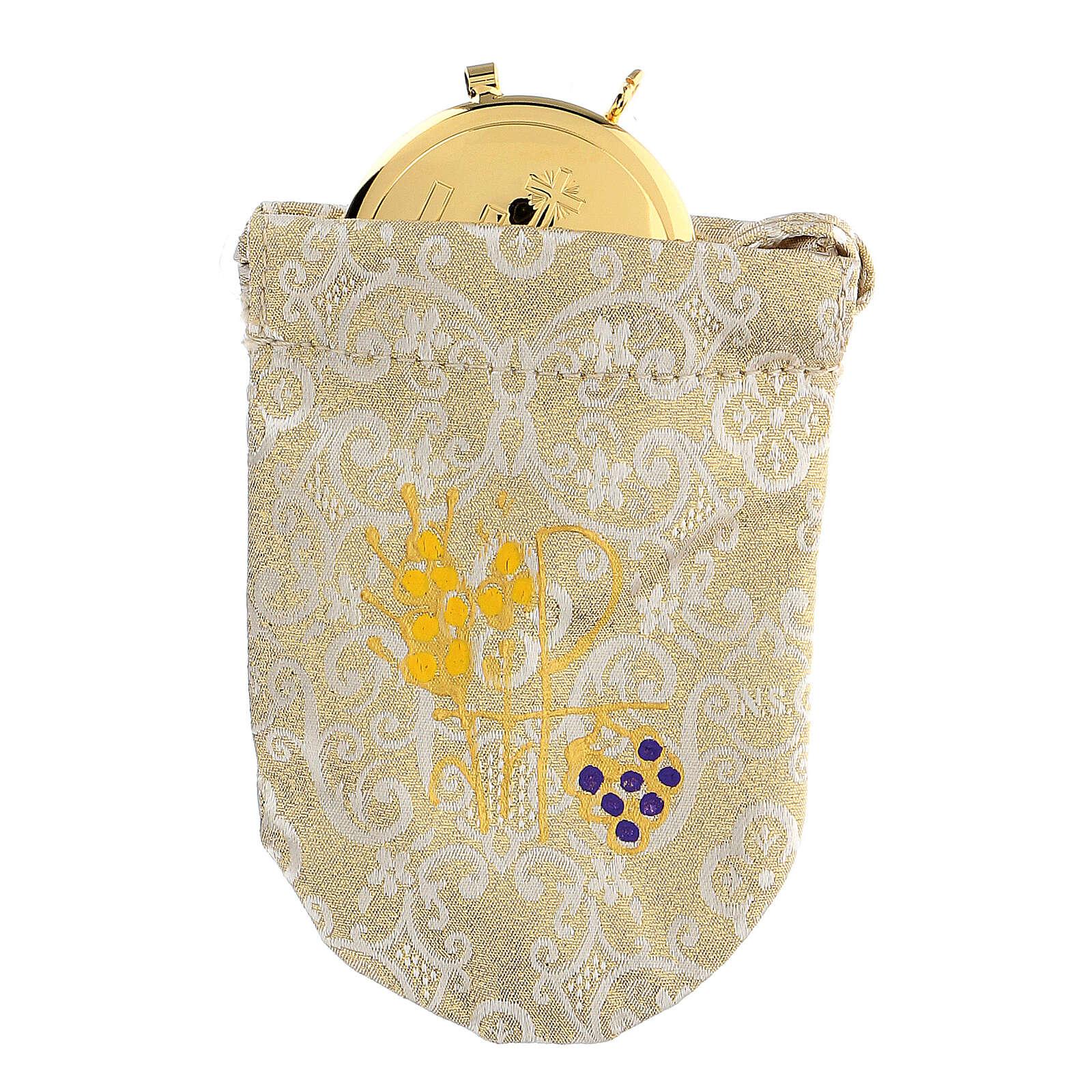 Bolsa para viático de jacquard damascado relicario 8 cm 3