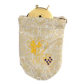 Sacchetto porta viatico in jacquard damascato teca 8 cm s1