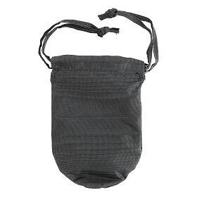 Sacchetto porta teca in moirè grigio teca 8 cm s6