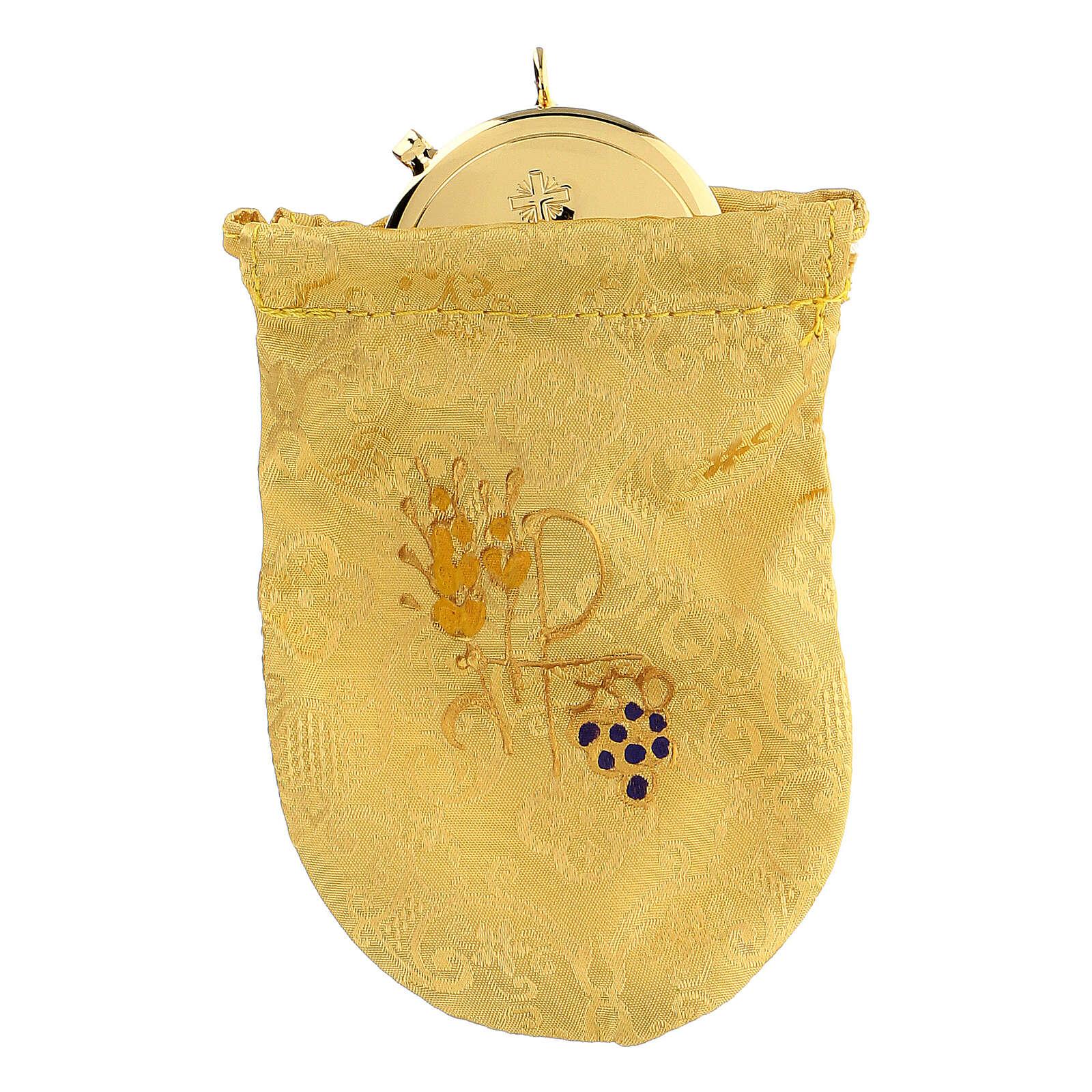Bolsa para viático de jacquard amarillo relicario 8 cm 3
